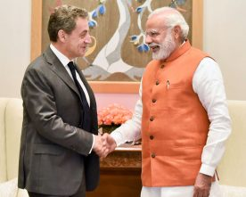 The former President of France, Mr. Nicolas Sarkozy calls on the ..