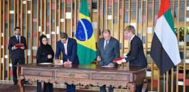 BRAZIL,UAE SIGNS THREE ACCORDS IN AN EFFORT TO ENHANCE TIES