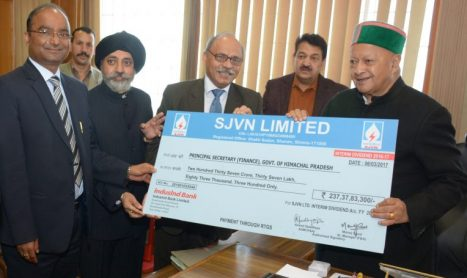 SJVN Paid 237.38 Cr interim dividend to HP Government