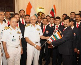 The Chief of Naval Staff, Admiral Sunil Lanba flagging off the Indian Navy's second..
