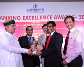 "PUNJAB NATIONAL BANK CONFERRED WITH ""BEST MSME BANK AWARD"""