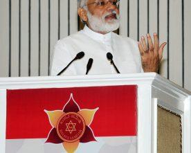 The Prime Minister, Shri Narendra Modi addressing at the inauguration of Basava Jayanthi 2017 and Golden Jubilee Celebration of Basava Samithi, in New Delhi