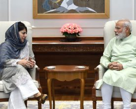 The Chief Minister of Jammu and Kashmir, Ms. Mehbooba Mufti calling on..