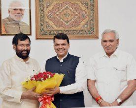 The Chief Minister of Maharashtra, Shri Devendra Fadnavis meeting..