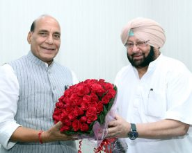 The Chief Minister of Punjab, Captain Amarinder Singh calling on the Union ..