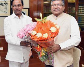 The Chief Minister of Telangana, Shri K. Chandrasekhar Rao meeting ..