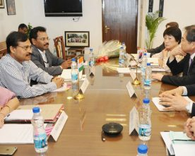 The Secretary, Ministry of Culture, Shri N.K. Sinha in a meeting..