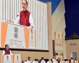 The Union Minister for Agriculture and Farmers Welfare, Shri Radha Mohan Singh..