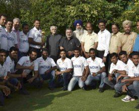 MEMBERS OF INDIAN DEAF CRICKET TEAM MEETS VICE PRESIDENT
