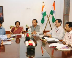 The Minister of Tourism, Uttar Pradesh, Smt. Rita Bahuguna Joshi meeting ..