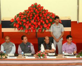 Rajnath Singh chairs a review meeting on Indo-Myanmar border issues