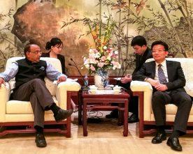 Vijay Goel meets the Vice Mayor of Shanghai Mr. Shi Guanghui