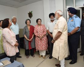 PRIME MINISTER EXPRESS CONDOLENCES TO FAMILY MEMBERS OF MARSHAL OF THE AIR FORCE ARJAN SINGH