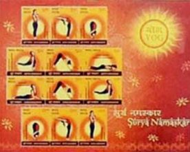 JAPAN POSTAL DEPARTMENT RELEASES POSTAGE STAMPS ON YOGA