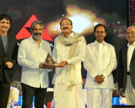 DIRECTOR S.S.RAJAMOULI CONFERRED WITH THE AKKINENI NAGESWARA RAO NATIONAL FILM AWARD
