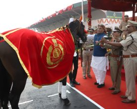 BLACK BEAUTY (HORSE) GETS SPECIAL MEDAL FROM UNION HOME MINISTER