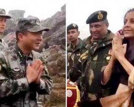 DRAGON WELCOMES NIRMALA SITHARAMAN FRIENDLY GESTURE 'NAMASTE' QUOTES A CHINESE DAILY
