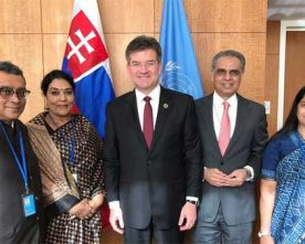 UN General Assembly President Miroslav Lajcak discuss reform of UN with Indian MP's