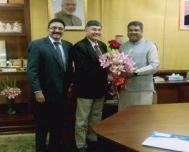 Sunil Mehta MD & CEO PNB calls on Petroleum Minister Dharmendra Pradhan