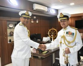 SANJAY ROYE REAR ADMIRAL TAKES OVER CHARGE FROM REAR ADMIRAL SANDEEP BEECHA