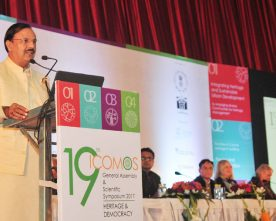 Dr. Mahesh Sharma address the Valedictory Ceremony of 19th General Assembly of ICOMOS