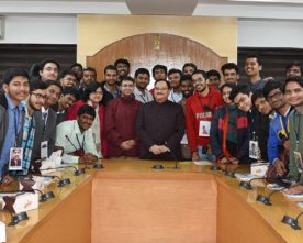 J P NADDA MEET STUDENTS FROM IIT MADRAS