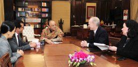 The President & CEO, Pension Plan Investment Board, Canada, Mr. Mark G.A. Machin meet Arun Jaitley