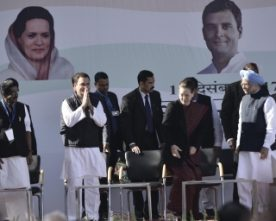 RAHUL TAKES OVER AS PRESIDENT OF AICC ,ACCUSES PM OF TAKING INDIA BACKWARDS TO A MEDIEVAL PAST