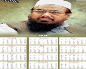 Pakistan newspaper issues calendar with Hafiz Saeed on it