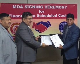 PNB SIGNS MOU WITH NSFDC FOR ECONOMIC EMPOWERMENT OF FAMILIES LIVING BELOW DPL