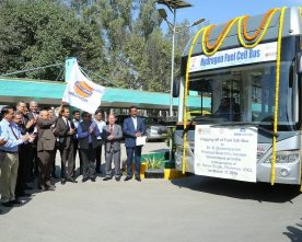 INDIA'S FIRST HYDROGEN FUEL CELL BUS DEMONSTRATION TRIAL HELD