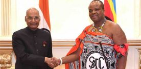 The President, Shri Ram Nath Kovind meeting with His Majesty Mswati III, the King of Swaziland