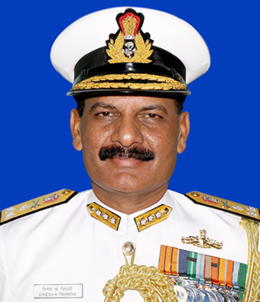 Vice Admiral Dinesh K Tripathi AVSM, NM assumes charge as Commandant Indian Naval Academy.